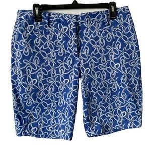 Lands End Mid Rise Chino Shorts Nautical Rope